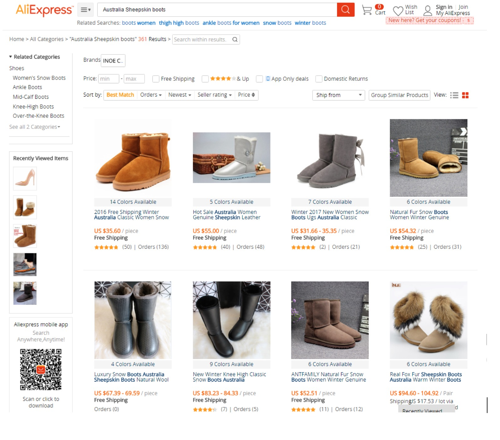 Taobao Related Keywords