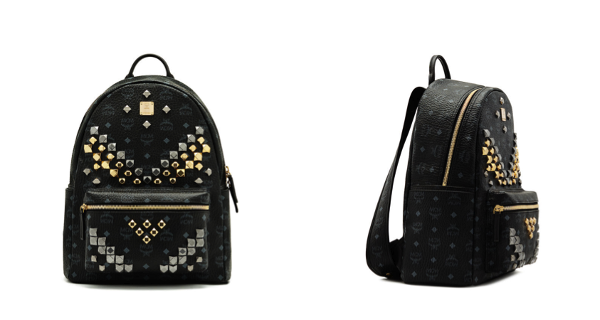 ccd102cb8448 The combination of black canvas with metal studs is so classic yet striking  at the same time. This bag would be the perfect addition to my simple white  ...