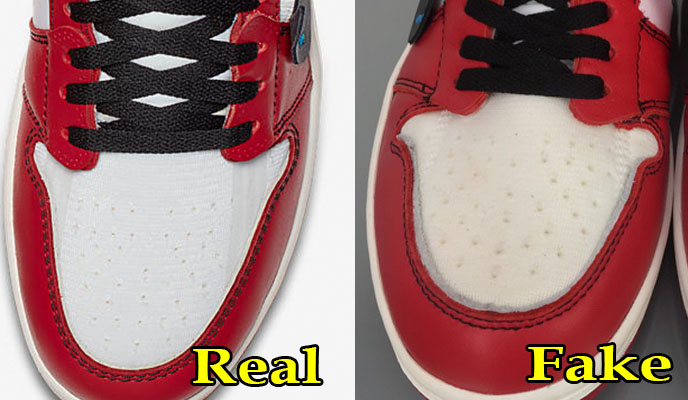 ccac51b4b25 How To Spot Fake Replica VS Authentic NIKE X OFF WHITE Air Jordan 1 ...