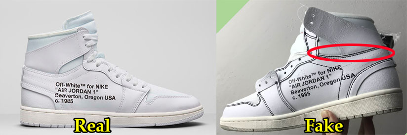 ... Off White Air Jordan 1 sneakers in all white to a pair of replica. This  is not a difficult feat at all – the secrets simply lie in looking at  various ... e0b0f8aec9