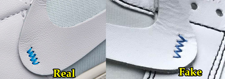 b53208b840b0fb The stitching on the shoe s Nike Swoosh should be in a sky blue shade