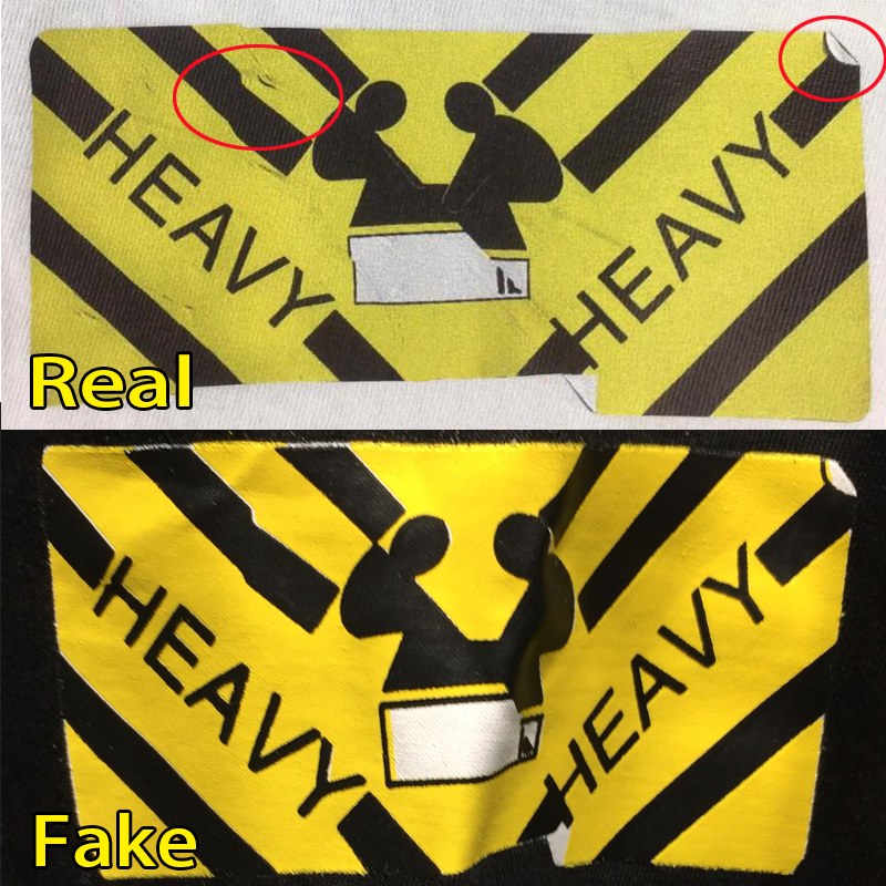 The Yellow Heavy Design On Shirt Should Have Some Dirty Marks And Shadowy Led Off Corner As Circled In Red Above Top