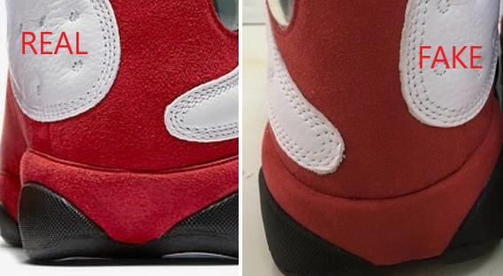 in stock 57a82 ee040 How to Spot Fake Cherry-Spot Air Jordan 13 - MyBizShare