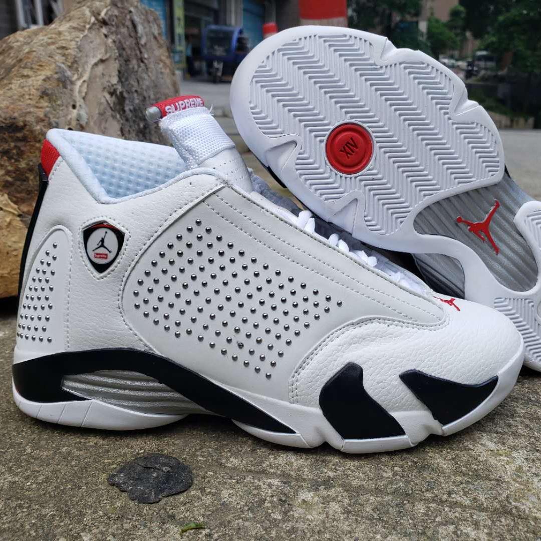 Spot Fake White-supreme Air Jordan 14