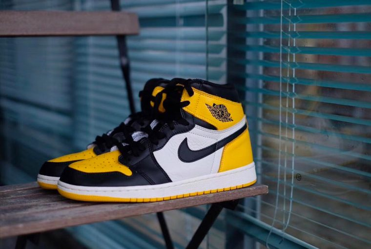 "Air Jordan 1 Retro High OG 'Yellow Toe"" Real vs High Quality Replica Comparison"