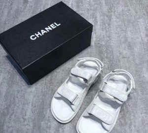 Chanel Patent Leather Beach Sandals Authentic vs High Quality Replica Review