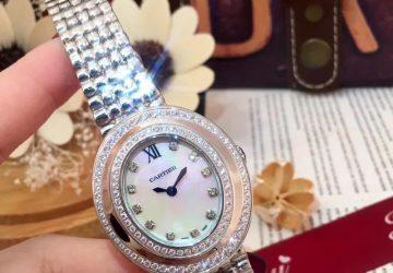Engraved Cartier Womens Wrist Watch