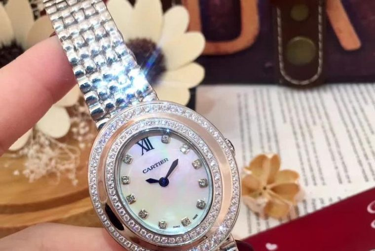 Engraved Cartier Womens Wrist Watch