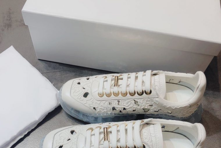 Jimmy Choo Transparent Bottom Sneakers